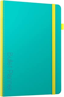 Bullet Planner by Scribbles That Matter - Undated - Pre-Printed Weekly, Monthly, Yearly Spreads - Habit Tracker - Get Your Life Organized and Productive Hassle-Free - B5 (Teal)