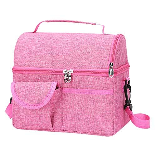 TAMALLU Damen Einfache Umhängetasche Umhängetasche Gurt Reißverschluss Reisegesellschaft Handtasche(Rosa)