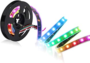 CHINLY 3.3ft 60leds WS2812B Individually Addressable LED Strip Light 5050 RGB SMD 60 Pixels Dream Color Waterproof IP67 Bl...