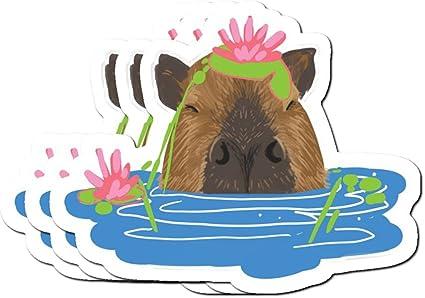 Splashy Capybara Stickers (3 Pcs/Pack)