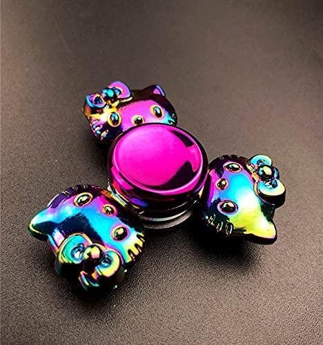 qwert Kids aldult Favors Alloy Metal Small Gadget Desk Toys Spinning Top Fingertip Gyro Stress Reliever,Cat