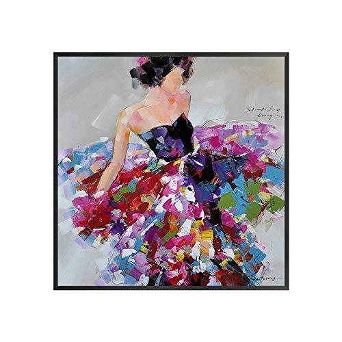 Sxuefang Murali di Astratta Bellezza Pittura su Tela Dipinti a Mano Pittura a Olio Puro 1Kg 80 * 80cm
