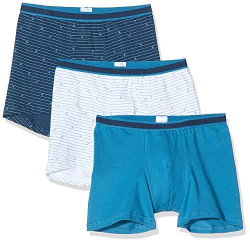 Schiesser Jungen Multipack Rat Henry 3Pack Shorts Boxershorts, Mehrfarbig (Sortiert 1 901), (Herstellergröße:140) (3er Pack)