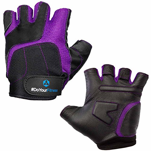 #DoYourFitness Fitnesshandschuhe »Luna« / Damen Trainingshandschuhe für Workout Gewichtheben Bodybuilding schwarz/lila S