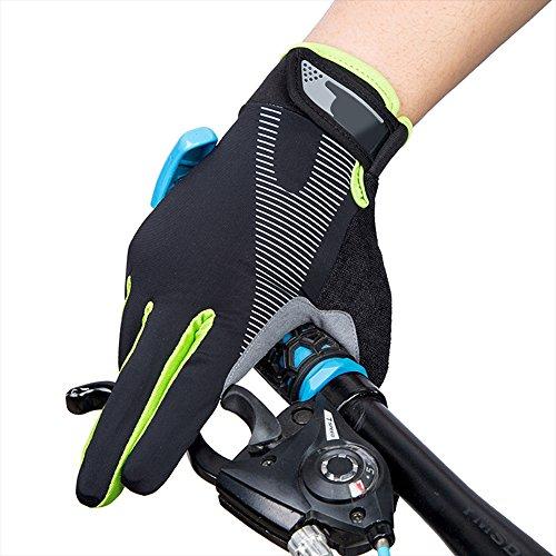 Eizur Gants de Cyclisme Antidérapants Écran Tactile Thin Gants de Sport Unisexe Printemps Été d'extérieur Ajustable Complet-Doigt Gants de Vélo pour randonnée Chasse Escalade Equitation