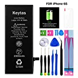 Keytas 2300mAh Replacement Battery Compatible with iPhone 6S, for iPhone 6s High Capacity Replacement Battery with Complete Tools Kit and Free Screen Protector, 2 Years Warranty