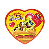 SpongeBob SquarePants Heart Shaped Gummy Krabby Patties Candies Valentine's Day Tin Gift Set for Kids