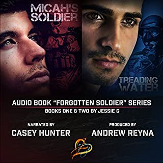 Treading Water     Forgotten Soldier, Book 2              By:                                                                                                                                 Jessie G                               Narrated by:                                                                                                                                 Andrew Reyna,                                                                                        Casey Hunter                      Length: 6 hrs and 17 mins     24 ratings     Overall 4.3