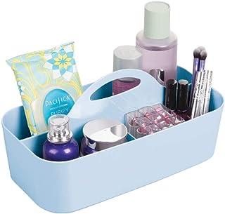 mDesign corbeille de douche avec 6 compartiments – bac de rangement pour douche portatif en plastique pour accessoires de ...