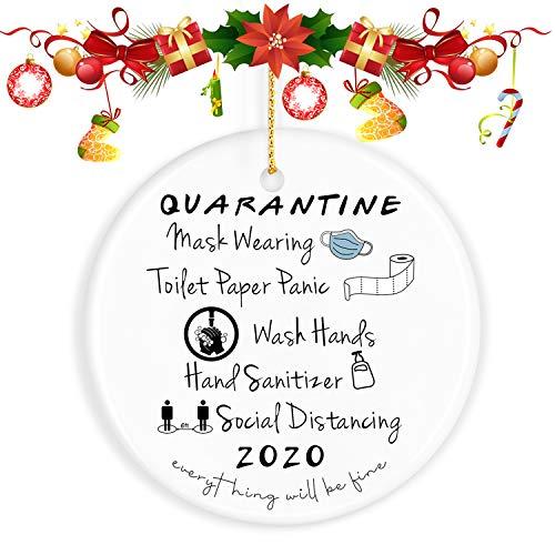 ValueVinylArt Christmas Ornaments, 2020 Christmas Ornament Quarantine 2020 Ornament Christmas Ornaments Clearance - Christmas Tree Ornaments