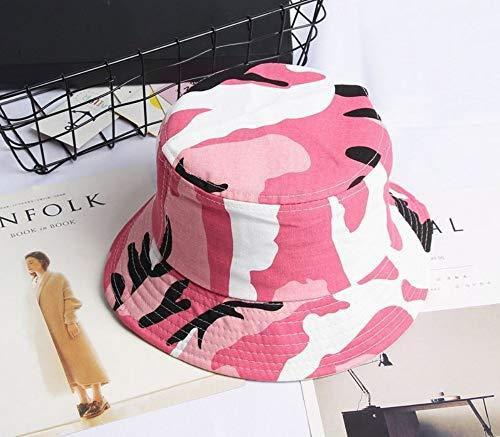 JIACHIHH Fisherman's Hut,Baumwolle,Camouflage Print Wanne Hut Rosa Fischer hat Sun Cap Hüte für Männer und Frauen