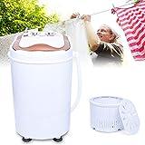 Lave-linge portable - Mini machine à laver - Sèche-linge - Capacité totale de 6 kg - Machine à laver et essoreuse Combo Compact - Pour les maisons de résidence, les appartements, les salles de collège