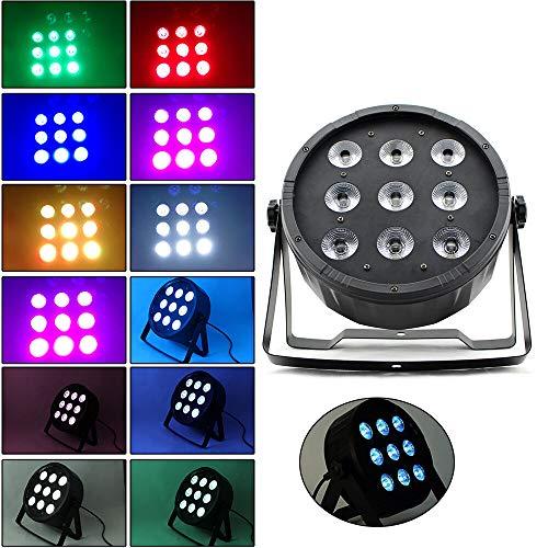 DMX Scheinwerfer BüHnenlicht Licht-Effekte 9x10W LED PAR Spot Scheinwerfe BüHnenlicht Wash Floorspot Licht Xmas Licht 4in1 RGBW Scheinwerfer