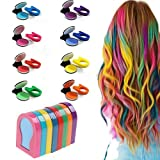 HHYSPA Temporary Hair Chalk for Kids,Temporary Washable Hair Color Dye Non-Toxic Hair Chalk Pensfor Halloween Makeup, Birthday Gifts, Party, Cosplay, Christmas Gifts, 8 Colors