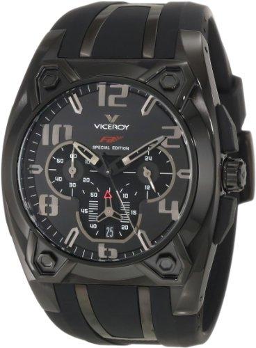 Viceroy 47617-55 - Reloj de goma con cronógrafo IP para hombre, color negro