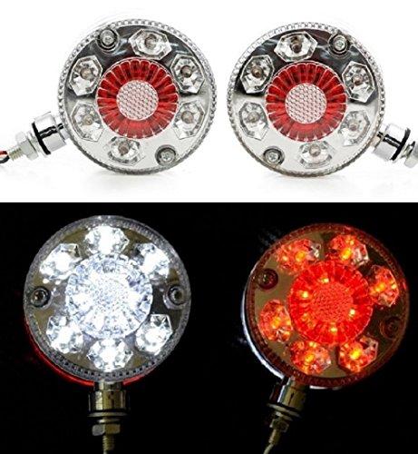 2 x lampe LED 24 V Rouge/blanc Coin côté Outline Lampes Couleur Chrome Cadre Châssis de camion remorque caravane Camper