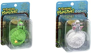 My Singing Monsters Baby Furcorn Collectible Figure with Egg Bundle Baby Mammott Collectible Figure with Egg