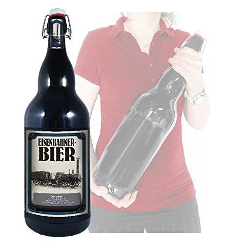 Eisenbahner Bier Adler - 3 Liter XXL-Flasche Bier mit Bügelverschluss