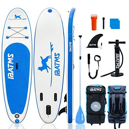 IBATMS-Tabla de SUP 10'x30 'x6' Tabla de Stand Up Paddle inflable con accesorios de SUP Premium y bolsa de transporte | Cubierta antideslizante, postura amplia, aleta|para jóvenes y adultos