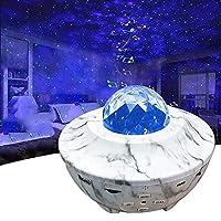 Sternprojektor + LED Projektor: Bringen Sie eine Galaxie nach drinnen und beeindrucken Sie mit einer sternenklaren Aurora-Lichtshow! Der neueste Projektor-Lampe projiziert sofort ein Feld von driftenden Sternen gegen eine sich wandelnde blaue Nebelwo...