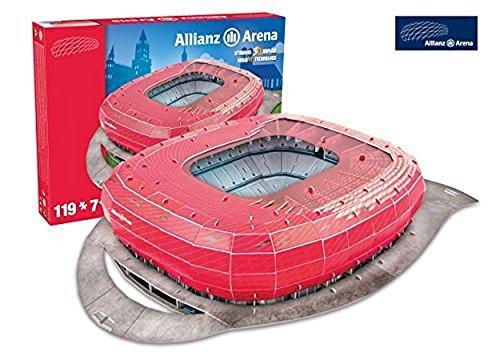 Bayern Munich 'Allianz Arena' Stadium 3D Puzzle - One Size by Nanostad