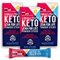 Real Ketones Prime D+ Exogenous Keto D BHB + MCT Drink Mix Supplement Powder, 30 Packets with Electrolytes, Lemon Twist