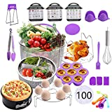Geezo Instant Pot Accessories Set,121 Pieces Pressure Cooker Accessories Kit,Fits 5,6,8 Qt Instant Pot...