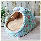 Calculatrice Bowknot 1 cama de mascotas pequeña y mediana para perros, para las cuatro estaciones, otoño e invierno. Cama cálida para bebé. Tamaño M