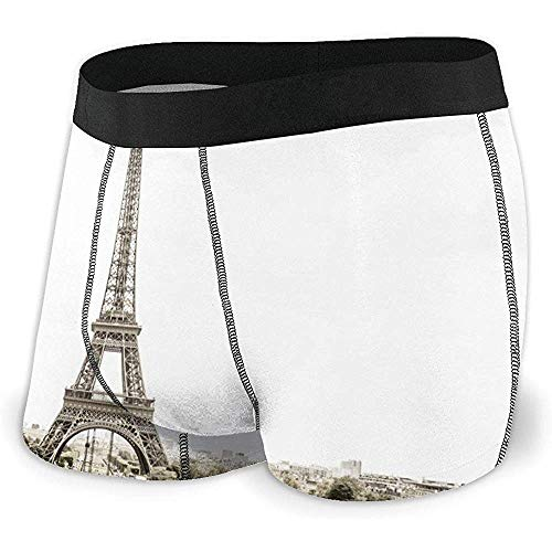 Torre Eiffel, París (Color Sepia) Ropa Interior de ángulo Plano Cinturón Boxer...