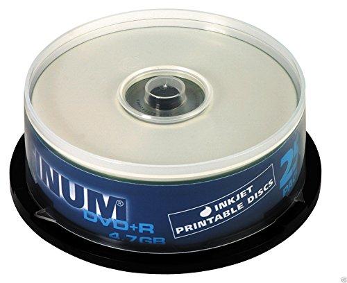 Platinum DVD+R 4,7 GB Bedruckbare DVD-Rohlinge (16x Speed) 25er Spindel 100121