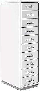 QSJY Meubles de rangements à tiroirs Classeur dossiers Suspendus 10 tiroirs, tiroirs à roulettes Dossier, dépôt Tiroirs en...