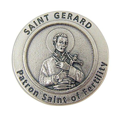 Lumen Mundi Patron Saint of Fertility St Gerard Pocket Token with Prayer Back