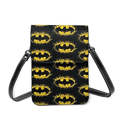 The Batman Sac à bandoulière en cuir PU étanche multifonction pour téléphone portable