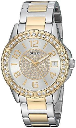 Guess Damen Analog Quarz Uhr mit Edelstahl Armband U0779L4
