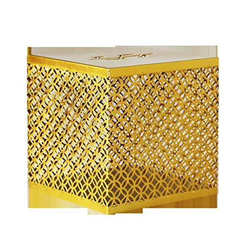 XWF Huchas De Hierro Forjado Hueco Hucha Simple Moderna Geometría sólo no Puede Fuerte Hucha de Escritorio Decoración de Oro de 5,9 × 5,9 × 5,9 Pulgadas Decoración del hogar Huchas Decorativas
