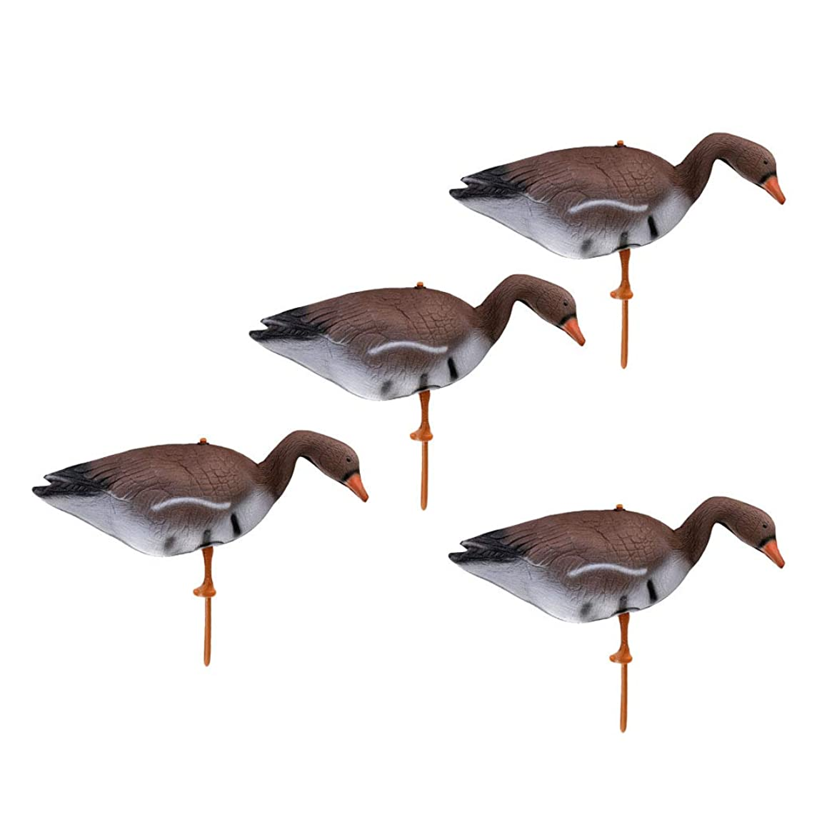 kesoto Swan Decoy Pond Bird Deterrent Decoration Hunting Floating Decoys Ornamental, Pack of 4