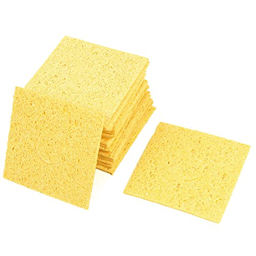 uxcell Replacement Soldering Iron Cleaning Sponge 57mm x 57mm x 1mm 20pcs