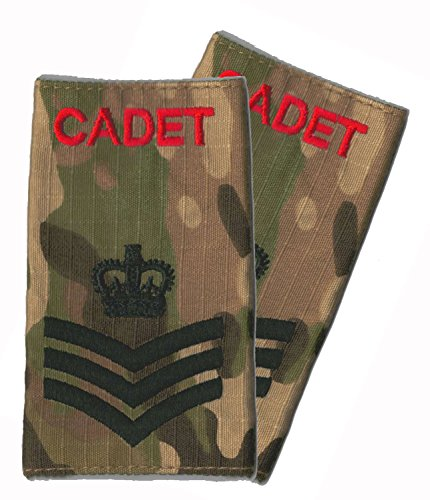 Paire/ACF CCF rang glisse sur CADET Rouge/MTP Sergeant couleur (Camouflage)