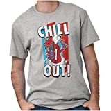 Brisco Brands Officially ICEE Logo Chill Out Womens Mens Crewneck T Shirt Sport Grey