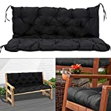 2 Seater Bench Cushion Pad Backrest <span class='highlight'>Garden</span> Bench Seat Cushion <span class='highlight'>Furniture</span> Pad Swing Chair Cushion for Outdoor Patio <span class='highlight'>Furniture</span> Recliners 120x50x50cm