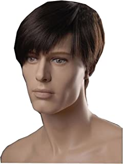 KOLIGHT European USA Best Hot Men Wigs Brown Wigs Short Men Hair Wig Shops Synthetic Fiber Hair Wigs