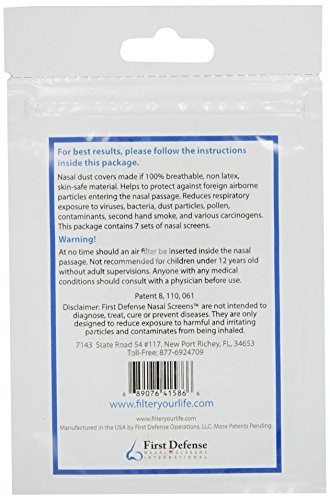51bGdTYkJ4L - First Defense Nasal Screens, 7-Sets Per Pack