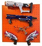 Wall Storage for Nerf Guns – Peg Board Holder for Nerf Blasters – Hanging Storage Rack Shelf Organizer
