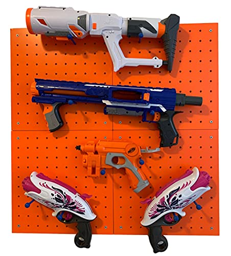 Wall Storage for Nerf Guns – Peg Board Holder for Nerf...