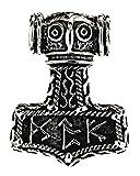 Kiss of Leather 221 - Colgante de martillo de Thor, plata de ley 925