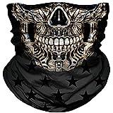 Skull Face Mask Dust Wind Sun Protection Seamless 3D Tube...
