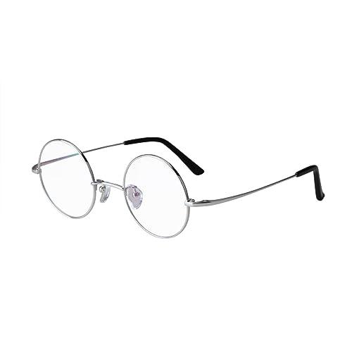 e3baf3bf7f Agstum Pure Titanium Retro Round Prescription Eyeglasses Frame 44-24-140