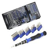 Set de Destornillador Profesional, 20,5 x 10 x 2,7 cm bits de Destornillador de Acero de vanadio bits de Resistencia Industrial de Acero de vanadio de Cromo para inquietud para desmontaje y