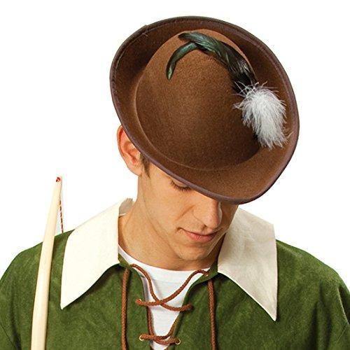 NET TOYS Sombrero marrón de Robin Hood Gorro Carnaval