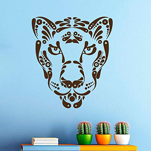 Uiewle Wall Stickers Boys Bedroom Leopard Animal Vinyl Wall Decal Stickers 57x64cm